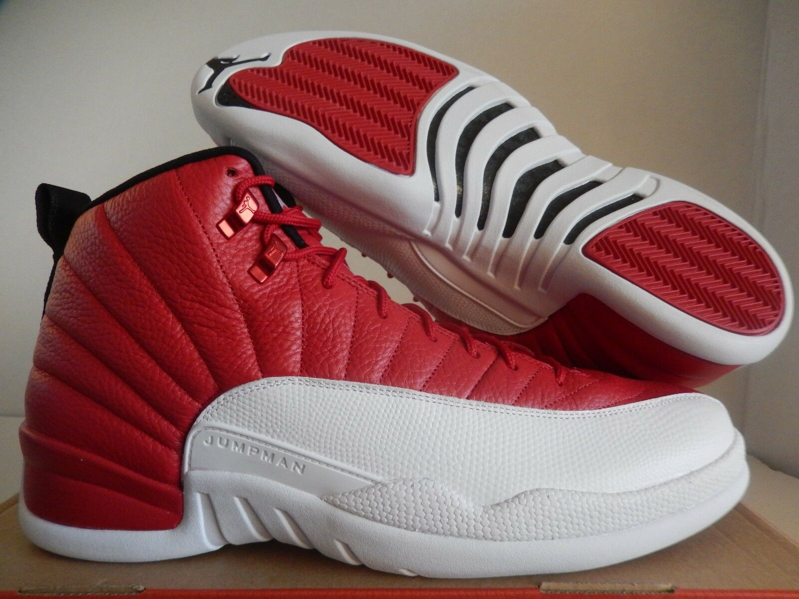 NIKE AIR JORDAN 12 RETRO ALTERNATE GYM RED-WHITE-BLACK SZ 15 [130690-600]