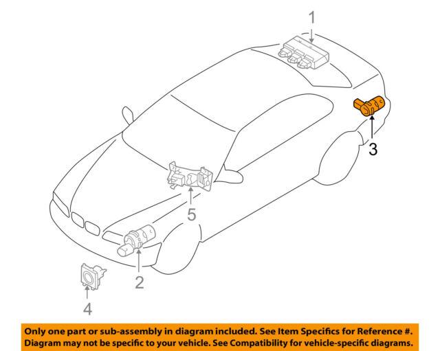 Auto Parts PDC Parking Sensor 66202184264 for BMW 7 E65 E66   eBay