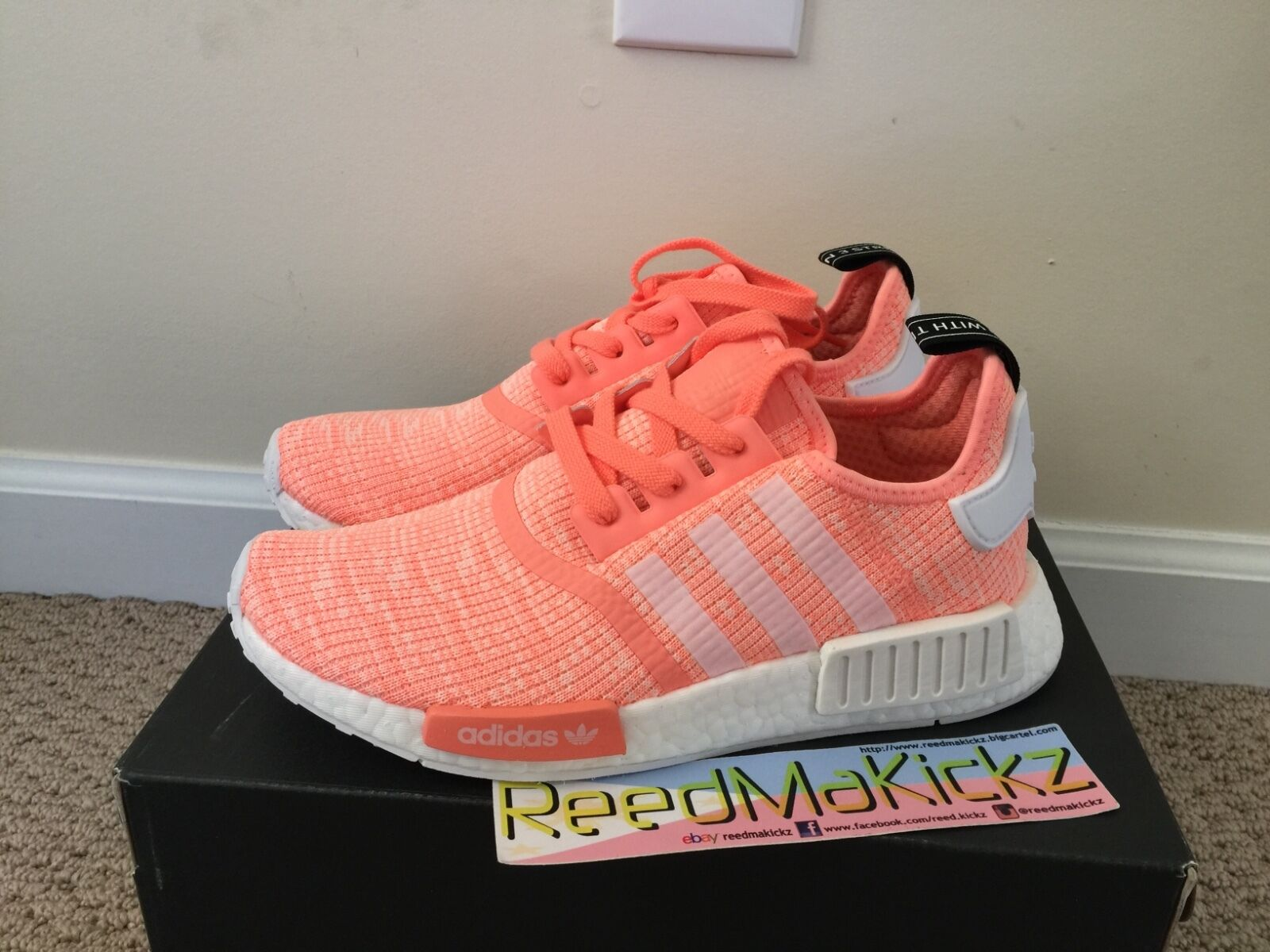 adidas nmd r1 black and pink ebay adidas tennis shoes