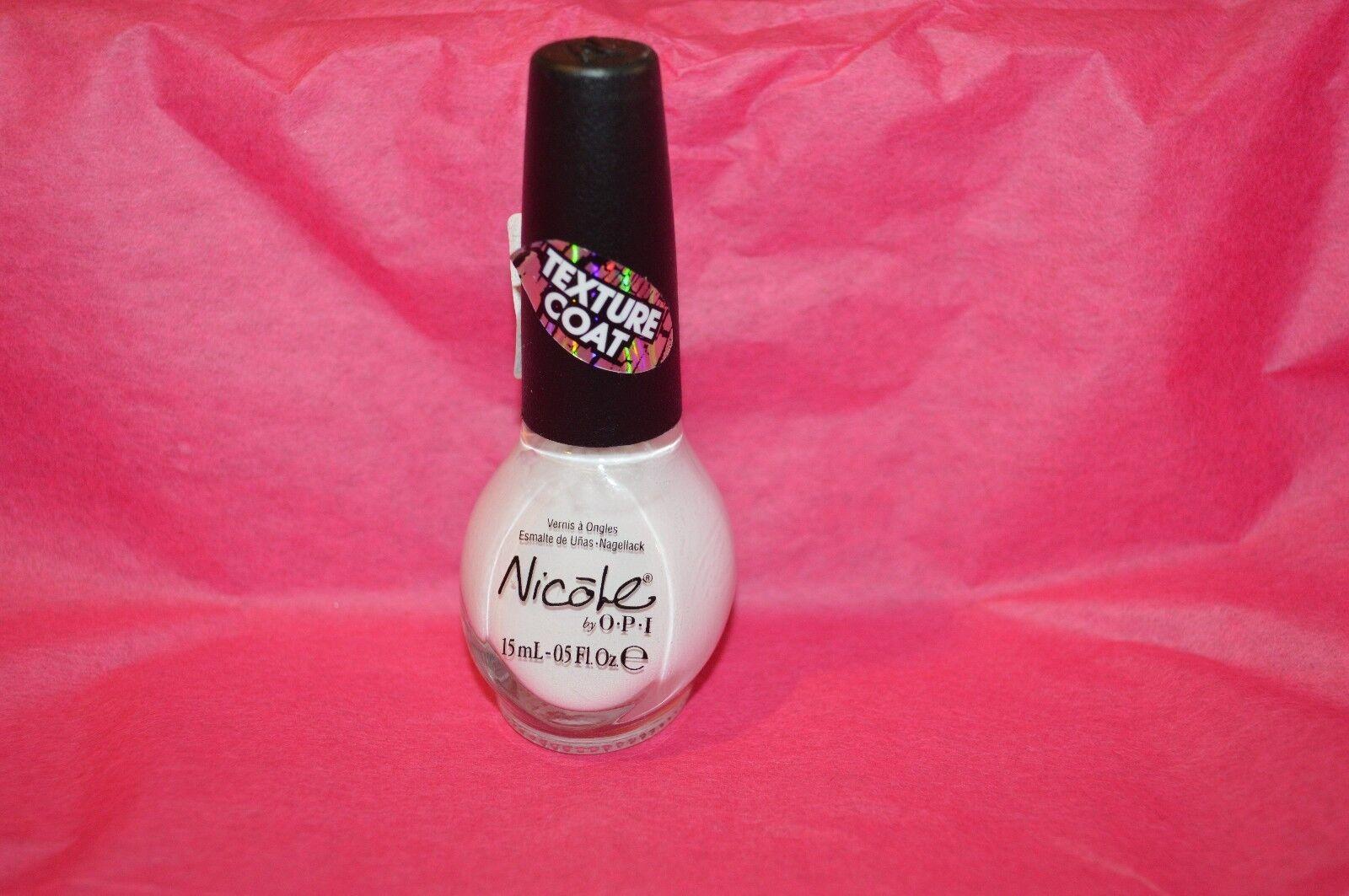 Nicole by OPI Textured Nail Polish #ni 380 White Texture | eBay
