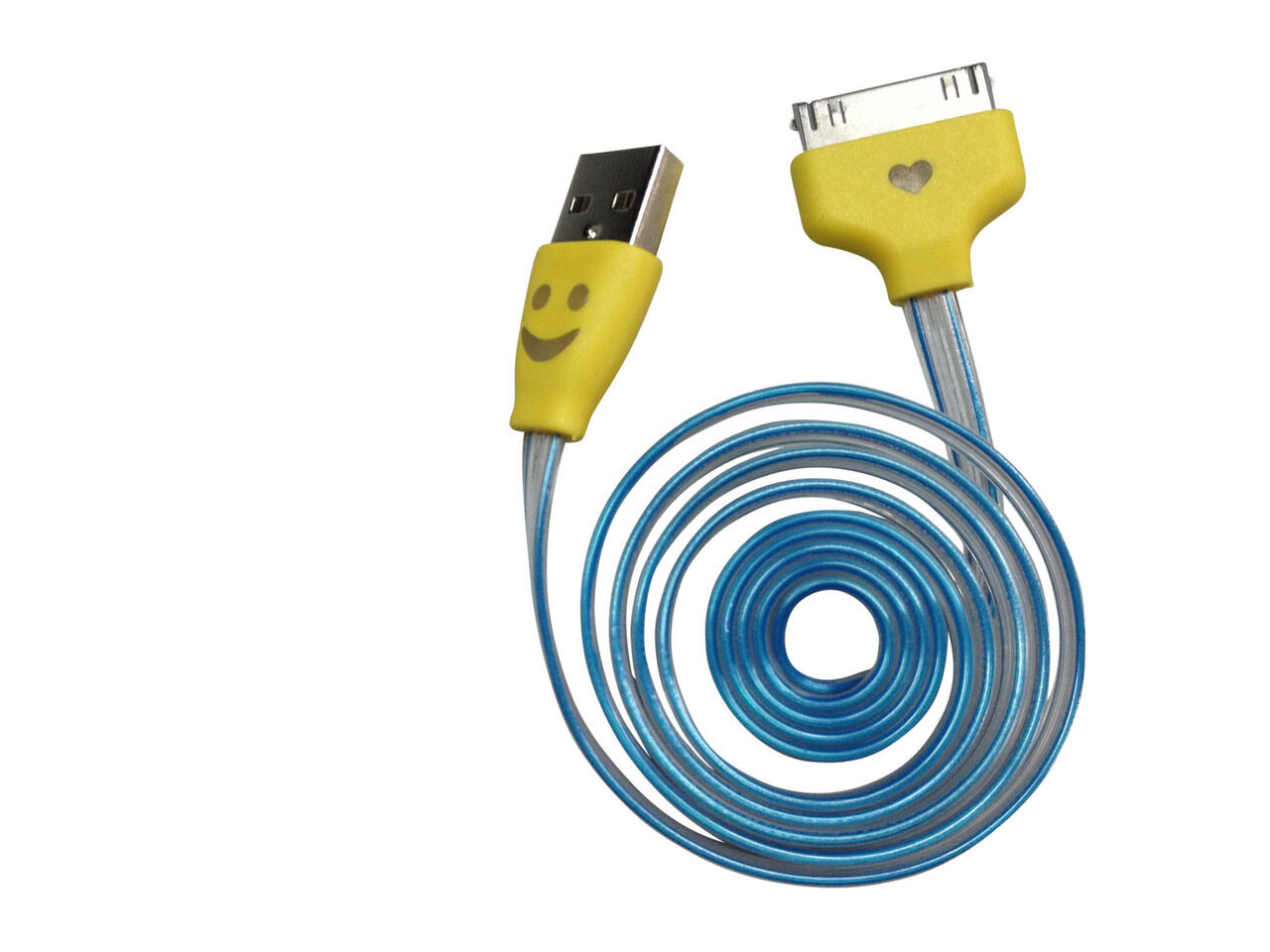 Smiley Pure Energy Micro Color Changing USB Cable for iPhone 4/4s | eBay