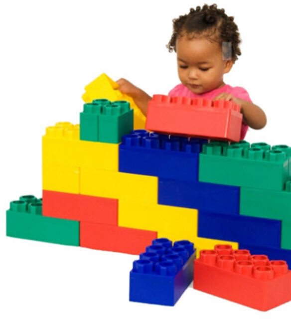 Building Toys For Toddlers : Jumbo building block set plastic brick beginner toddler