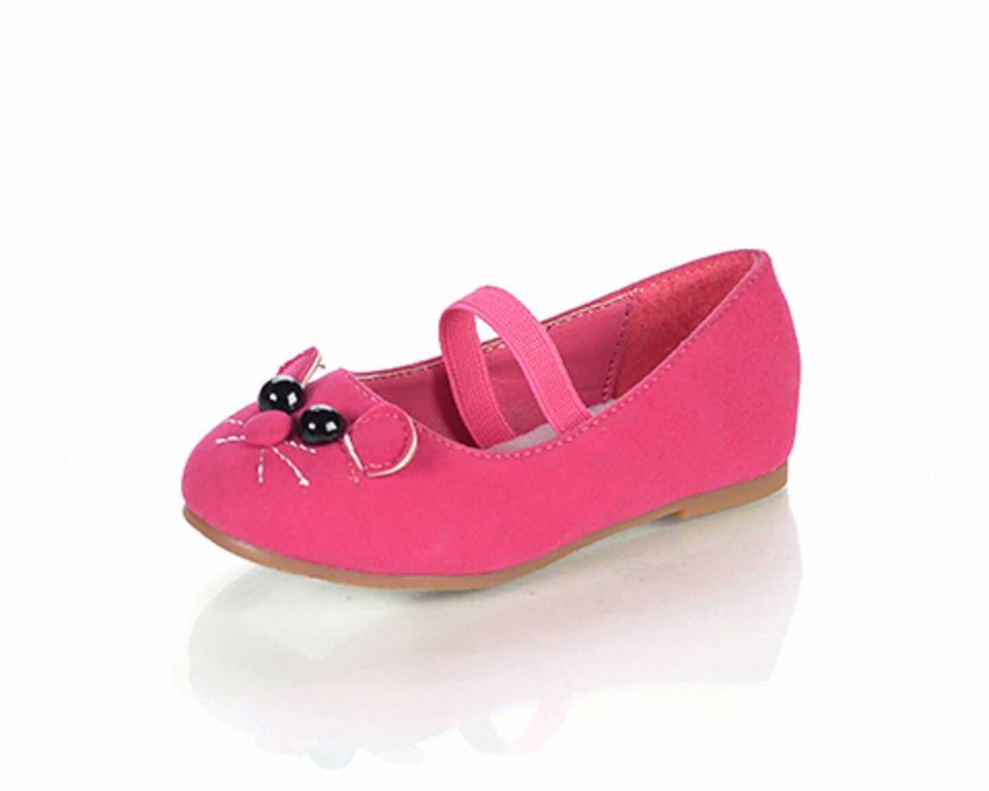 Girl Cat Face Flats Kitty Shoes Minoro Toddler Pageant Flower