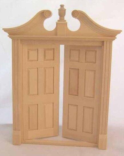 Picture 1 of 1 & Dollhouse Miniature Houseworks # 6034 Wood Double Deerfield Door 1 ...