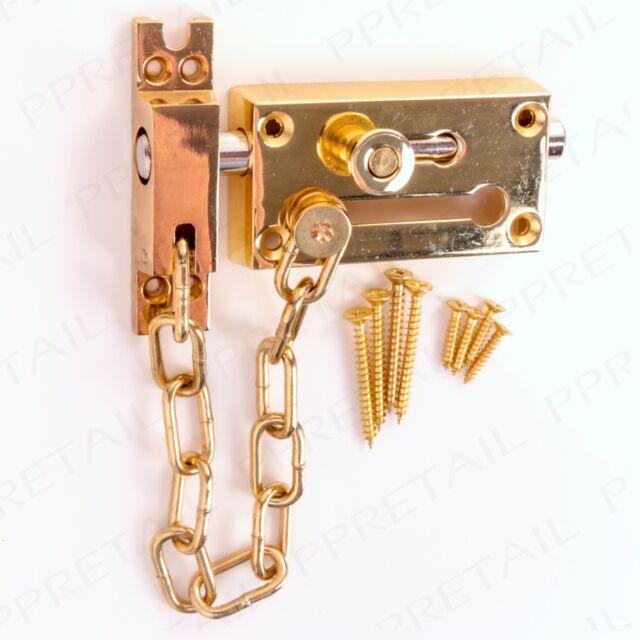 Door Chain Bolt Restrictor Safety Guard Lock Slide Catch Strong ...