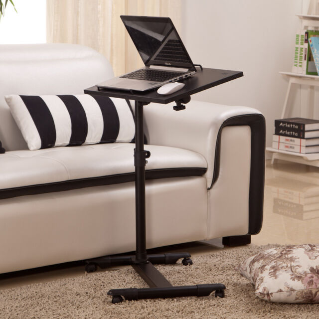 adjustable portable table desk stand with sofa bed tray. Black Bedroom Furniture Sets. Home Design Ideas