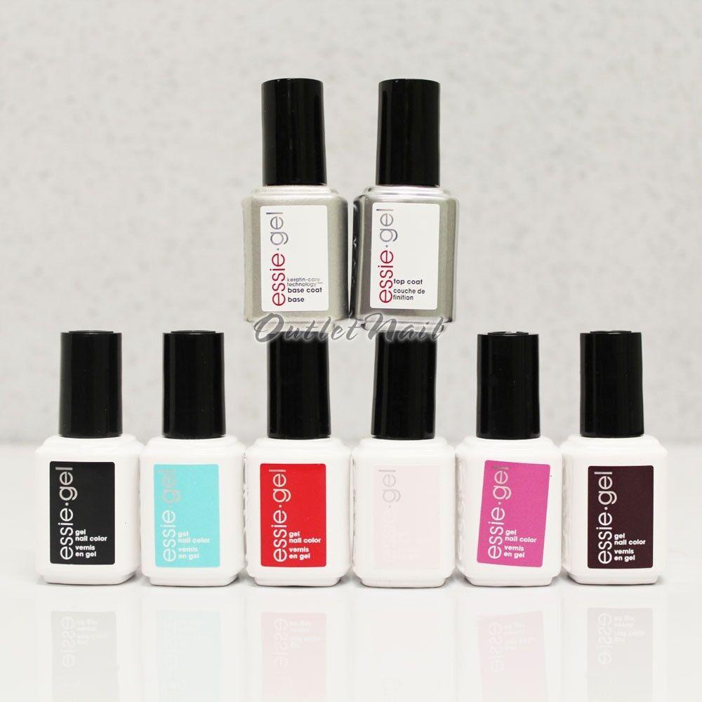essie GEL UV LED Nail Kit - Pick 6 Color Base Top Coat 0.42 Oz Set ...