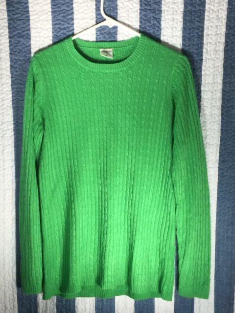 Motherhood Maternity Womens Medium Cable Knit Sweater Green Long