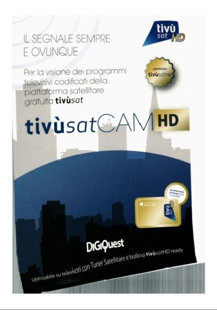 Tivusat Modul mit TivúSat Smar Card.  Scheda attivata.  Aktivierte Smartcard