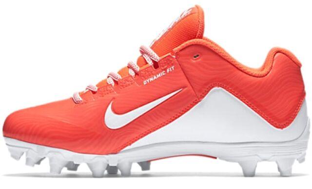 NEW Nike Womens SPEEDLAX 5 sz 6 ORANGE White Lacrosse Football Shoes Cleats