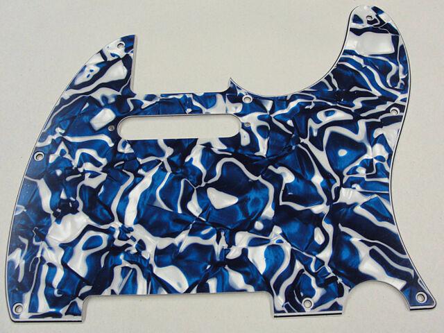 dandrea pro telecaster pickguard 8 hole blue swirl pearloid made in the usa