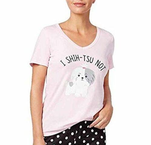 21c46419a9ec Jenni by Jennifer Moore Jennifer Moore Women's Graphic Print Pajama Top  ONLY Shitzu Not Large NWT