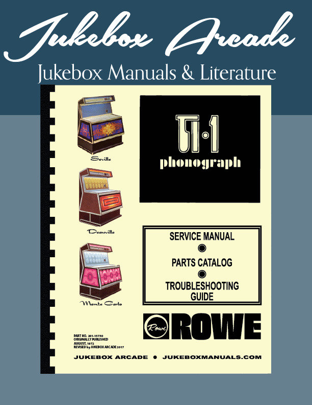 rowe ti 1 jukebox service parts manual ebay rh ebay com nsm jukebox repair manual jukebox repair manuals