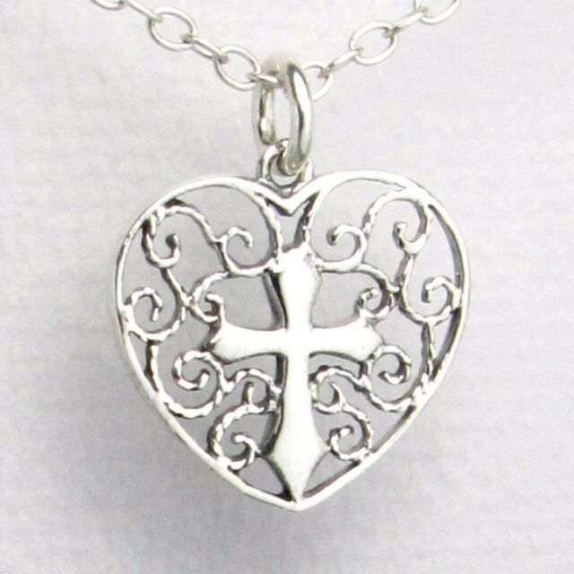 925 sterling silver infinity faith hope love heart pendant necklace stamped 925 sterling silver cross in heart pendant 18 necklace love hope faith aloadofball Gallery