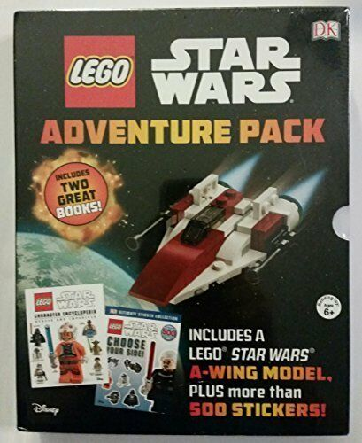 LEGO Star Wars Adventure Pack 2 Books 500 Stickers A-wing Model ...