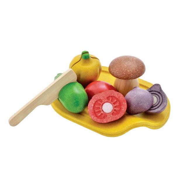 PlanToys 3601 Slicing vegetables Vegetable Set Wood new! #