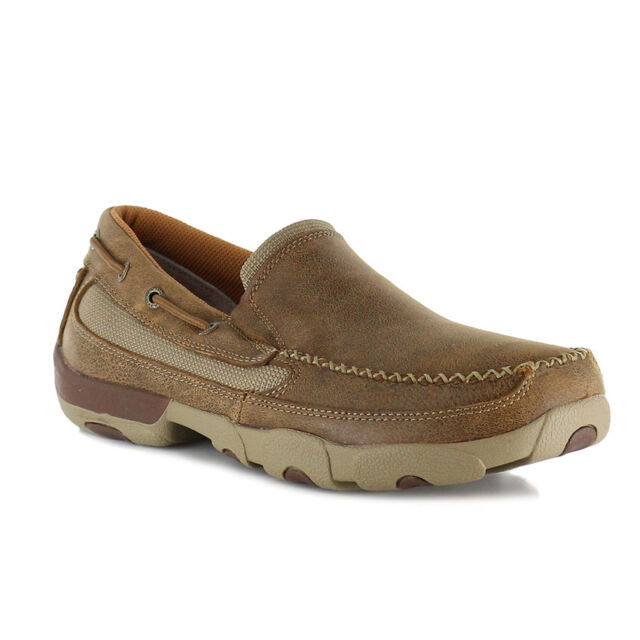 Twisted X Boots MDMS002 Driving Moc Slip On(Men's) -Bomber Leather Outlet Locations Online Huge Surprise Sale Online NnvP3m