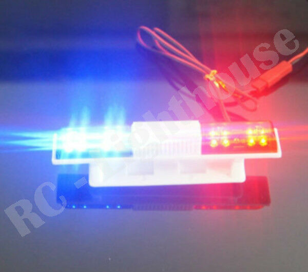 Rc police light bar rotating red and blue leds super bright rc police light bar rotating red and blue leds super bright universal mount sq aloadofball Images