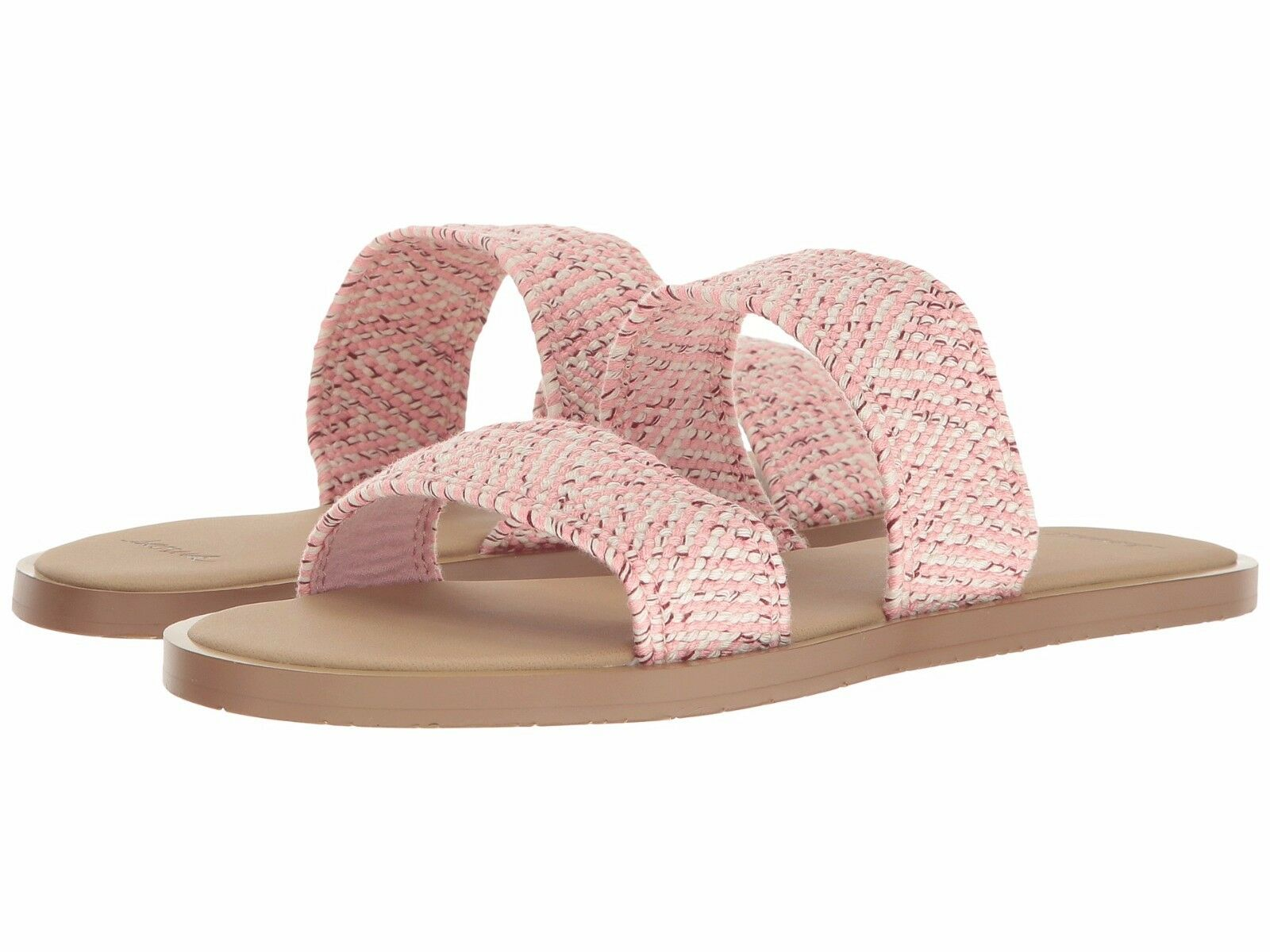 Sanuk Womens Yoga Gora Gora TX Slide Sandal Strawberry Cream Size 6 S4Jwg