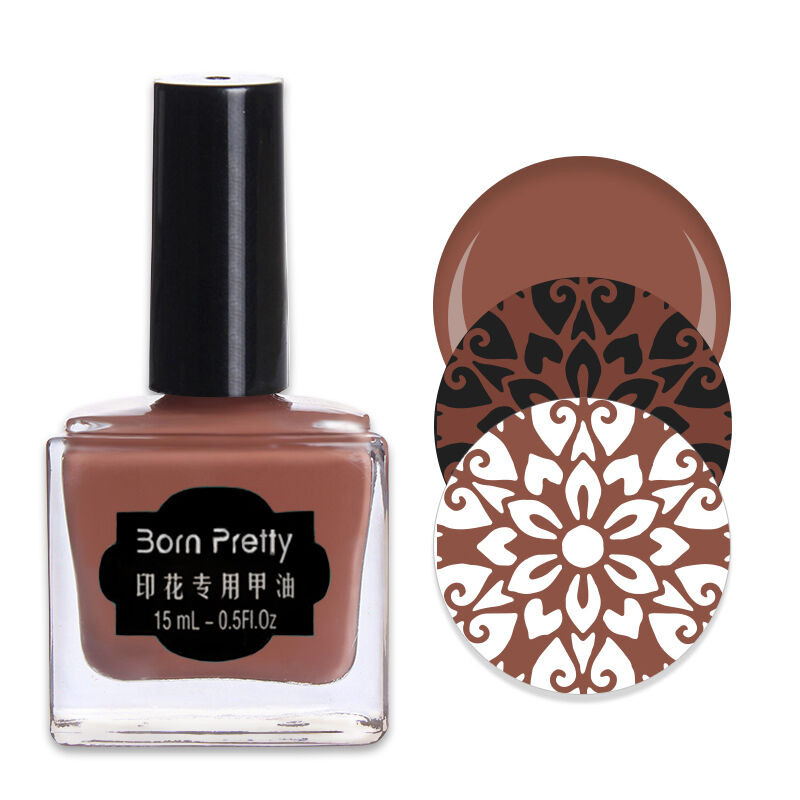 1 Bottle 15ml Born Pretty Chocolate Nail Art Stamping Polish