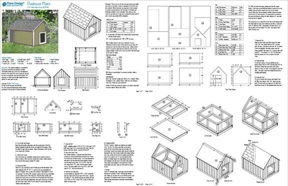 Large Dog House Plans Gable Roof Style Doghouse 90304g Pet Size up ...