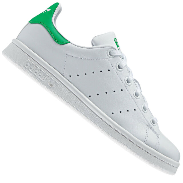 new style 216e5 a1954 adidas Originals Stan Smith J Sneaker donna M20605 Bianco Green - tualu.org