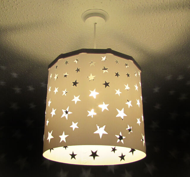 Black white stars cut out lampshade light shade 1 ereki magnetic white stars lampshade ereki magnetic set for touchless bulb changing design aloadofball Choice Image