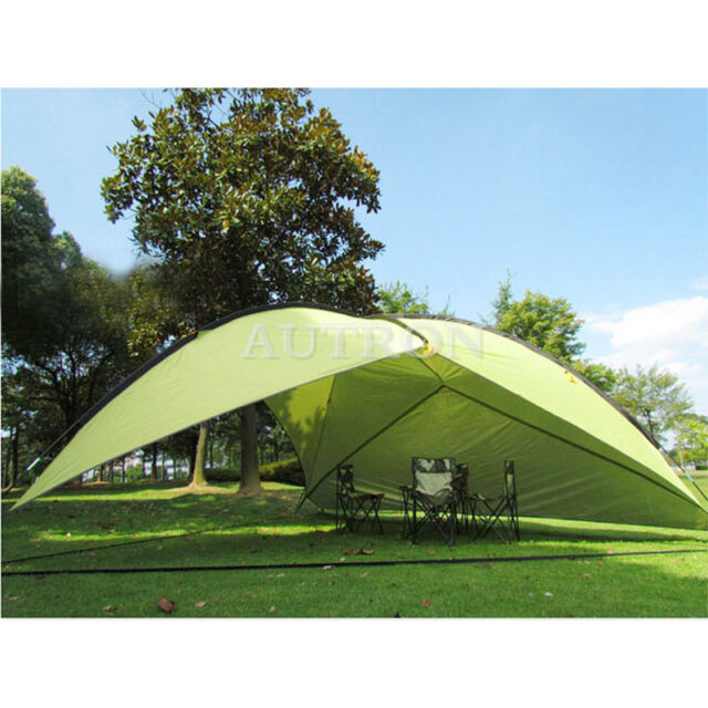 Green Triangle Shade Shelter Beach Canopy C&ing Hiking Tent Portable Outdoor  sc 1 st  eBay & Green Triangle Shade Shelter Beach Canopy Camping Hiking Tent ...