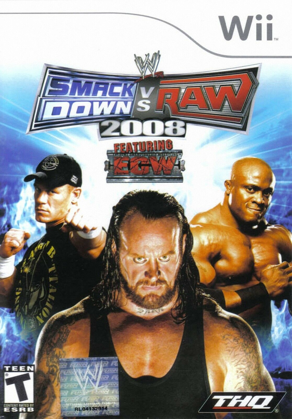 wwe smackdown vs raw 2008 featuring ecw nintendo wii 2007 ebay