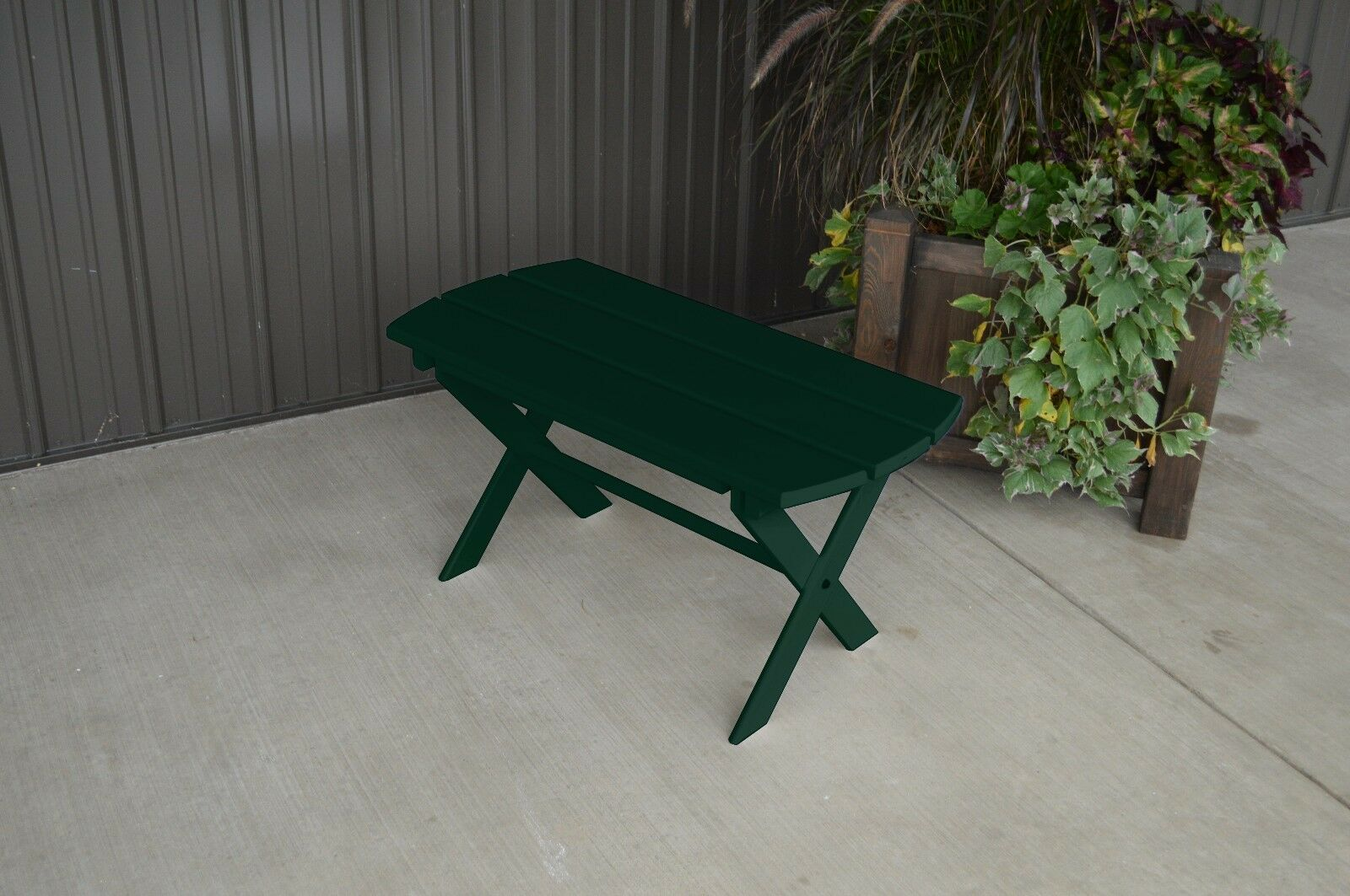 Yellow Pine Outdoor Folding Coffee Table Amish Made USA