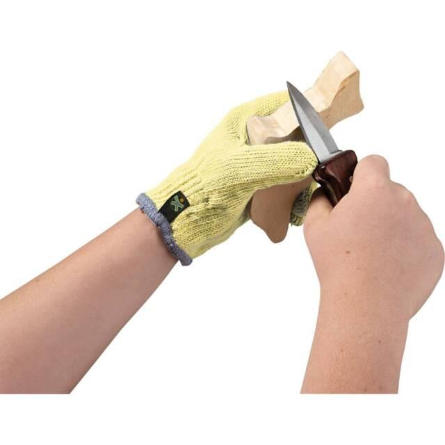 HABA Schnitzhandschuh Set 300318 NEUES MODELL Schnitzen Gelber Handschuh +BONUS