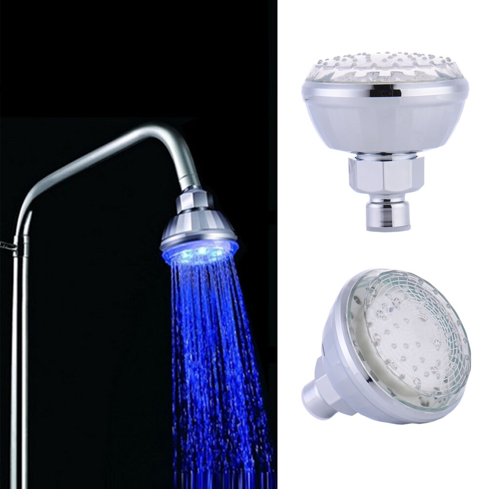 Bathroom Temperature Sensor Changing LED Shower Head Water Glow ...