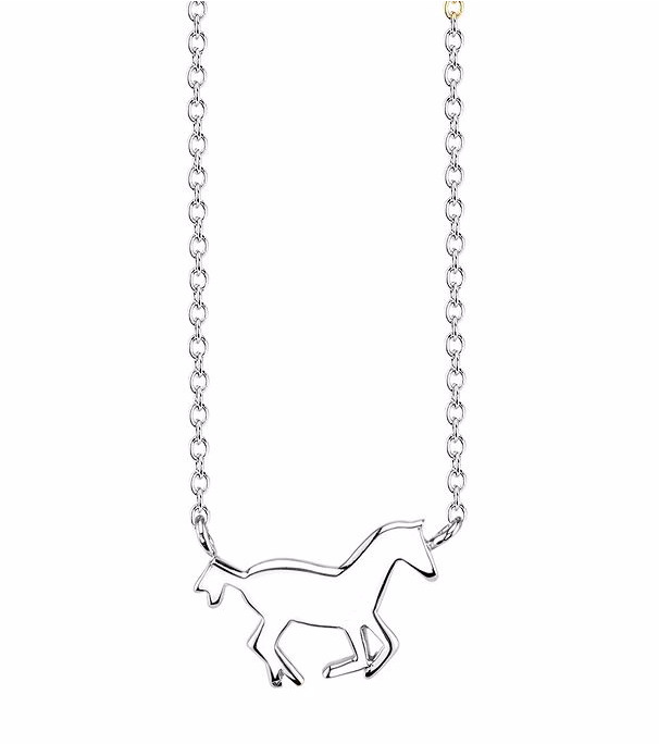 Kohls 16 18 sterling silver i love my horse pendant charm necklace picture 1 of 3 mozeypictures Gallery