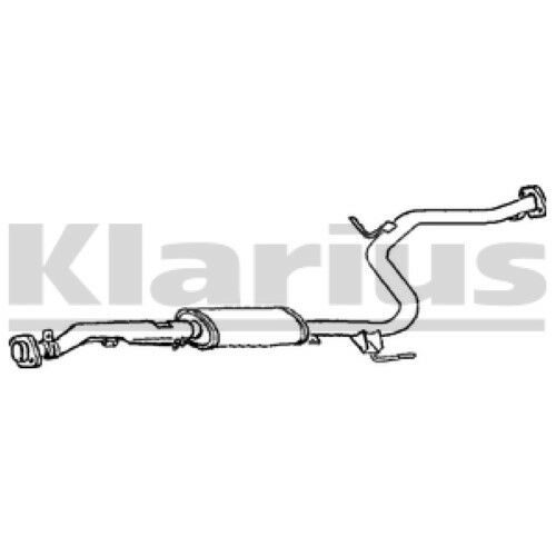 1x KLARIUS OE Quality Replacement Middle Silencer Exhaust For MAZDA Petrol