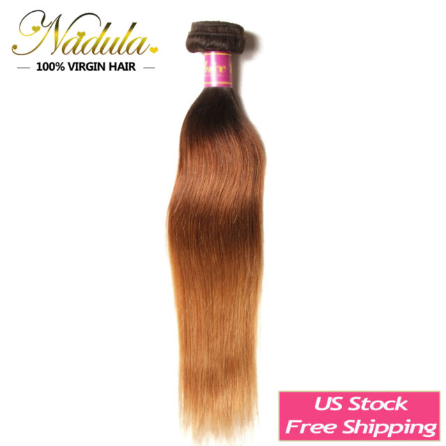 Ombre Three Tone Malaysian Straight Hair Wefts 100g Human Hair Weave