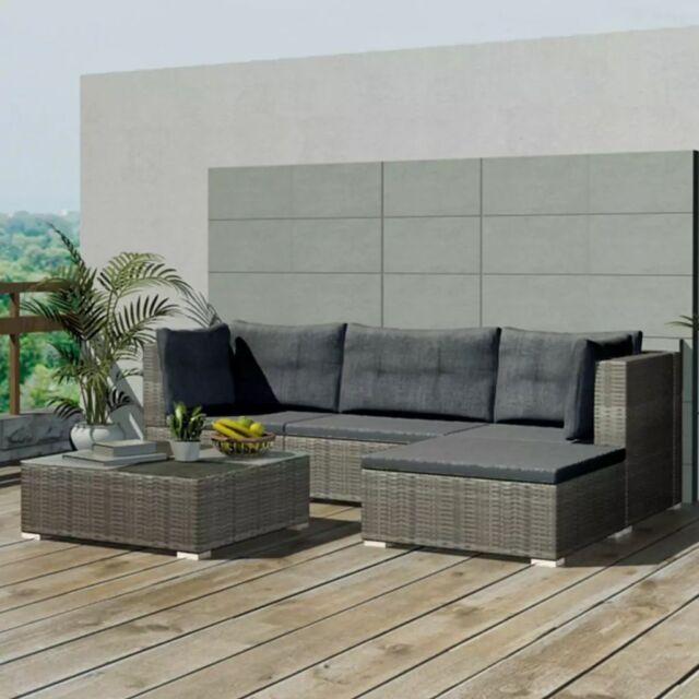 Exceptionnel VidaXL Garden Sofa Set 14 Piece Rattan Wicker Patio Outdoor Lounging  Furniture