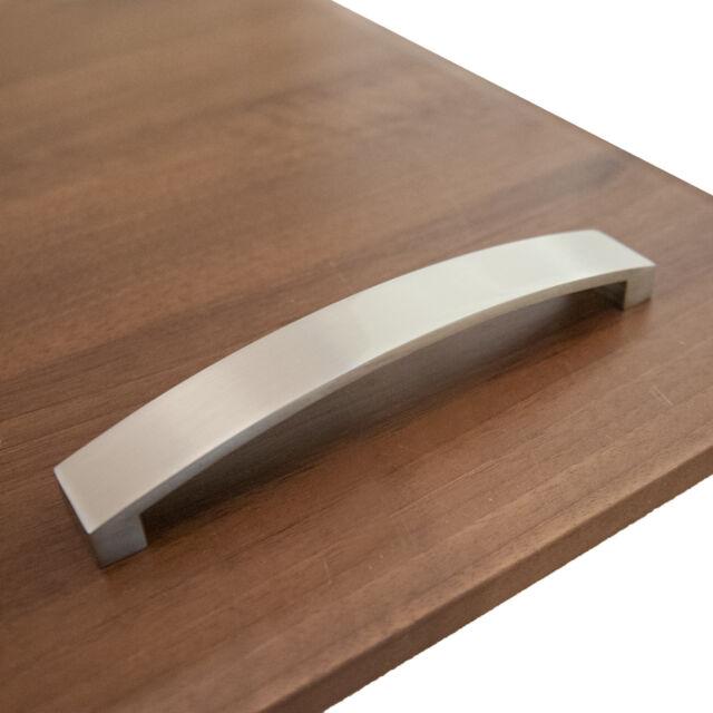 Bow Handle Kitchen Cabinet Door Drawer Handles Brushed Chrome ...