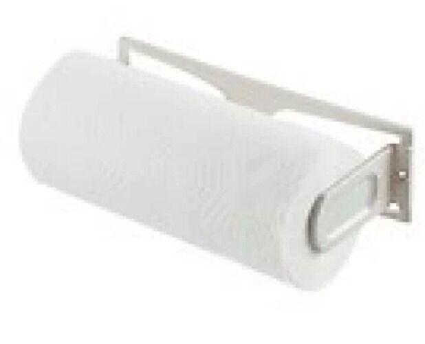 paper towel holder plastic under cabinet wall mount horizontal vertical white ebay. Black Bedroom Furniture Sets. Home Design Ideas