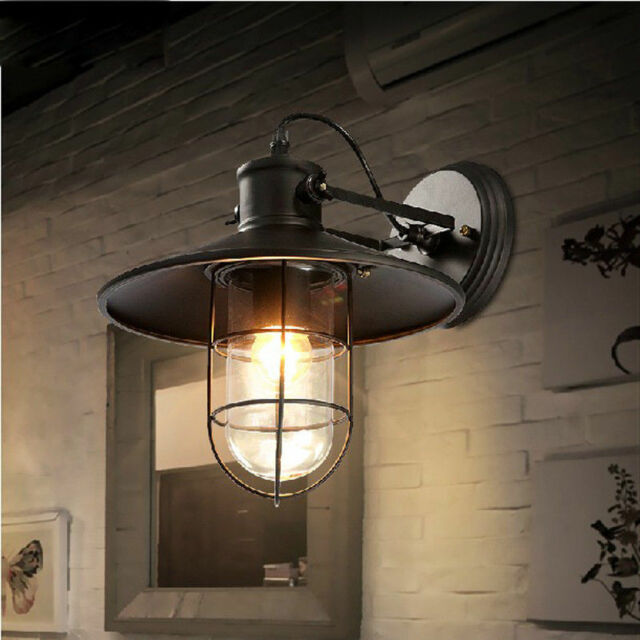Charmant Industrial Retro Vintage Rustic Single Light Metal Iron Nautical Wall Sconce