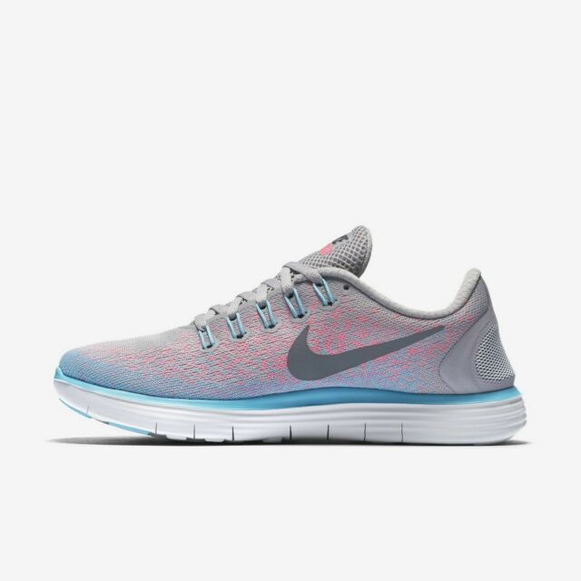Nike Womens 7.5 Free Distance Running Shoes Gray Pink Blue 827116