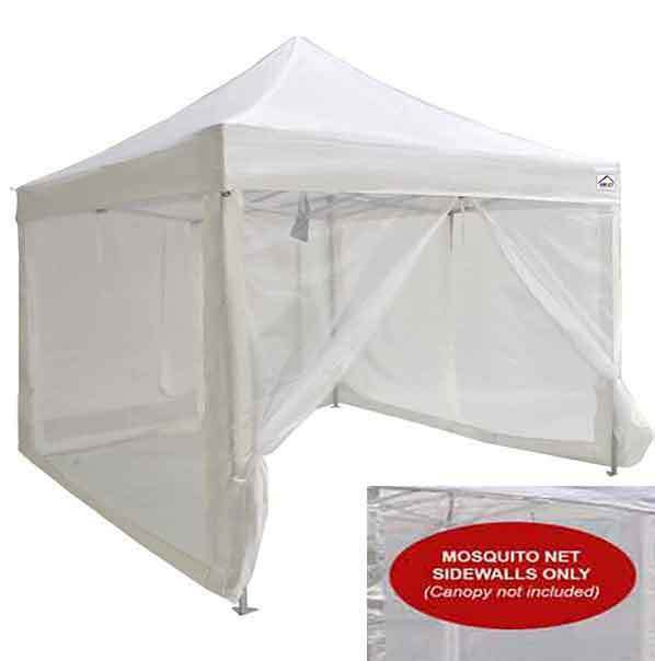 Impact Canopies 10x10 Mesh Wall Sidewalls For Pop Up Canopy Screen Room Walls