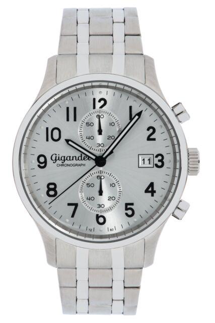Gigandet SKYSCRAPER Herrenuhr Chronograph Datum Edelstahl Silber G49-003