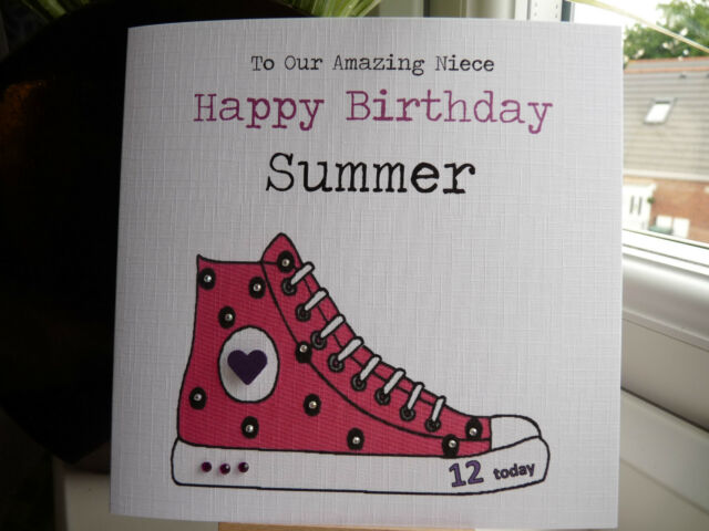 Handmade personalised sneaker trainer birthday card teen daughter handmade personalised sneaker trainer birthday card teen daughter niece 12 13 16 bookmarktalkfo Image collections