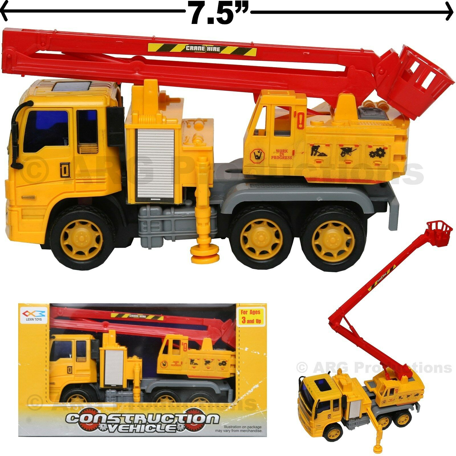 Dump Truck Toy Construction Vehicle Friction Powered Kids Love