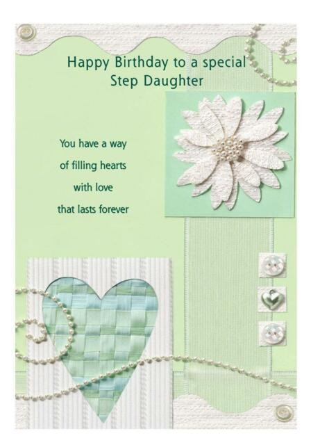 Step Daughter Birthday A5 Card Personalised Mom Mother Mam Mummy Mum