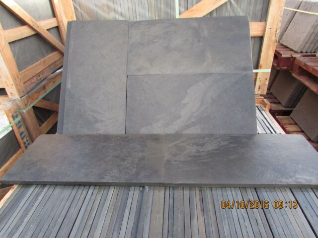Black Slate Paving ✓Patio Slabs Garden✓15m2 600x300mm 15to20mm  Thick✓FREE✓DEL