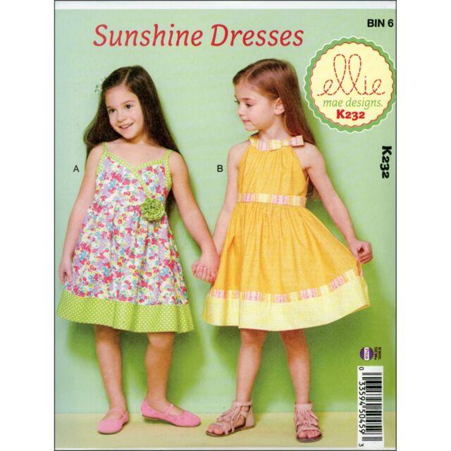 Kwik Sew Sewing Pattern Girls Sunshine Dresses Size 3 - 10 Years ...