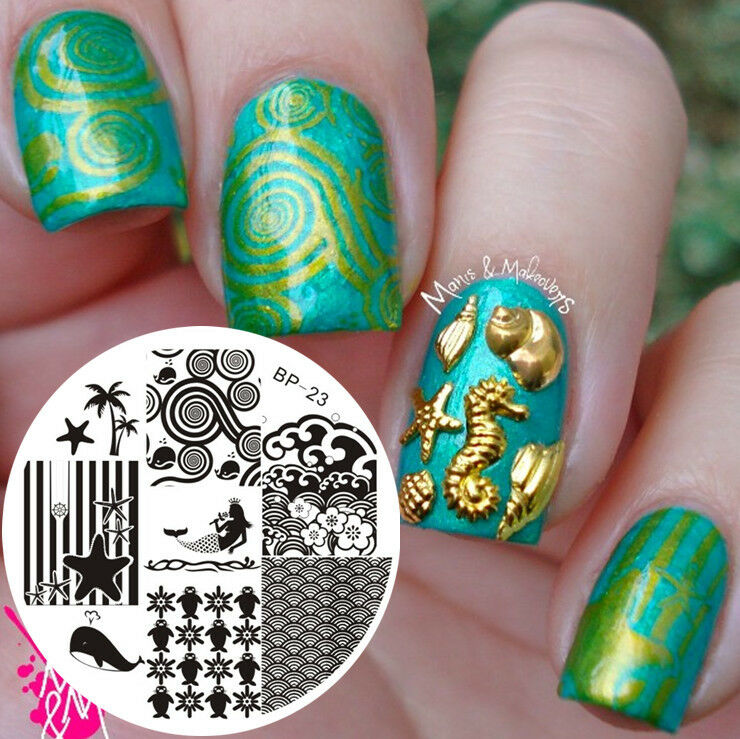 Born Pretty Nail Art Stamp Template Image Plate Ocean Theme Bp23 | eBay