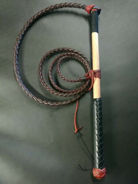 5ft Red Hide Stock Whip Stockwhip, free conditoner, fall, 6 crackers, free post