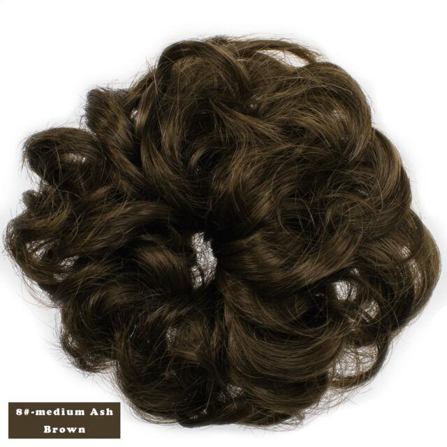 Onedor Curly Hair Bun Extensions Scrunchie Hair Piece Light